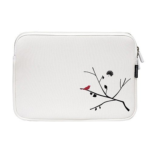 CaseCrown Fashion Netbook Neoprene Sleeve Case (Spring Bird Branch) for ASUS Eee PC 1005HA-VU1X-WT 10.1-Inch Netbook