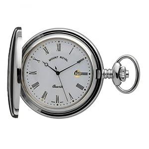 Mount Royal Pocket Watch B9Q Chrome Plated Half Hunter