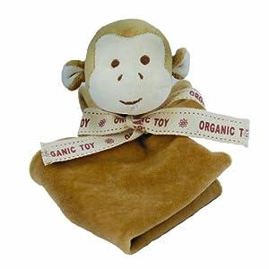 Miyim Simply Organic Lovie Blankie, Monkey, 0-3 Months