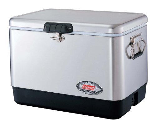 Coleman 54-Quart Steel-Belted Cooler, Stainless-Steel Finish