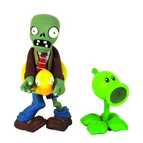 Plants vs Zombies Figures 3'' Ducky Zombie with Peashooter - 1