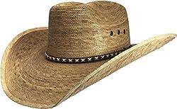 BULL-SKULL HATS, PALM LEAF COWBOY HAT, SECONDS 405