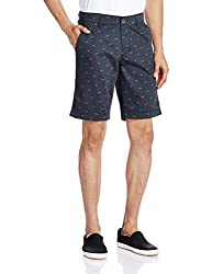 Basics Men's Cotton Shorts (8907054874279_15BSS33429_36_Navy)