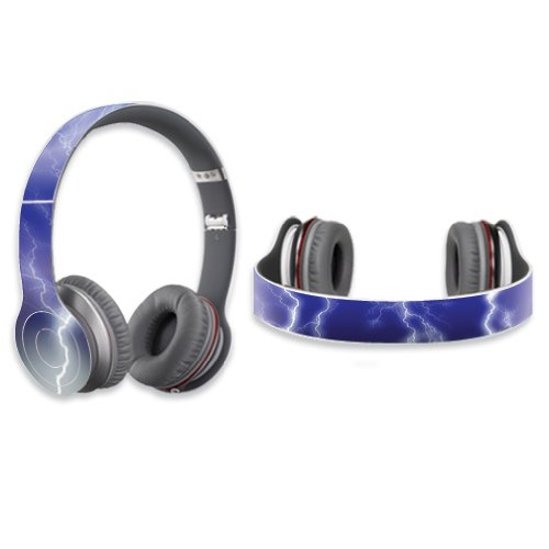 Mightyskins Protective Vinyl Skin Decal Cover For Dr. Dre Beats Solo Hd Headphones Sticker Skins Lightning Storm