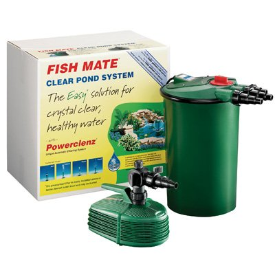 Fish mate pressurized pond filter system kits 6000 ps for Set up pond filter system