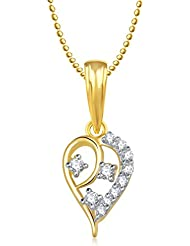 Meena Gold And Silver Plated Pendant With Chain For Women PS161
