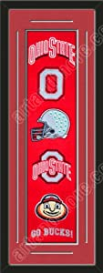 Heritage Banner Of Ohio State Buckeyes With Team Color Double Matting-Framed Awesome... by Art and More, Davenport, IA