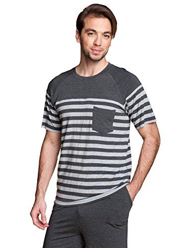 Suntasty Men's Modal Cotton Sleepwear Short Sleeve Pajama Shorts and Top Set