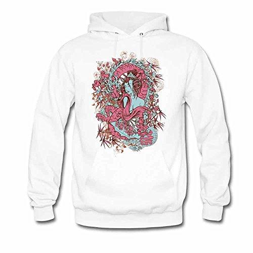 Art woman and dragon printed Women's Pure Cotton Hoodies XL
