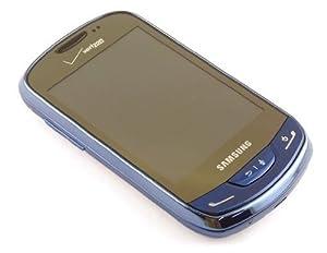 Verizon Samsung Brightside SCH-U380 (No Contract) - CDMA Black/Sapphire Color 3MP QWERTY Touch Cell Phone SCHU380 U380 (Sapphire Blue)