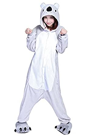 molly pyjama damen einteiler schlafanzug lang jumpsuit onesie winter koala s bekleidung. Black Bedroom Furniture Sets. Home Design Ideas