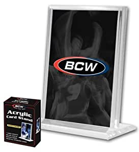 BCW - 1/2 Inch Vertical Acrylic Card Stand / Display or Holder with UV Protection - Ideal for Displaying Baseball & Other Sports Cards