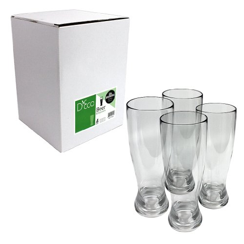Unbreakable-Beer-Glasses-100-Tritan-Shatterproof-Reusable-Dishwasher-Safe-Set-of-4-by-DEco