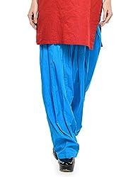 Stylenmart Women Cotton Solid Full Patiala Salwar (Stmapa078616 _Ferozi _Free Size)