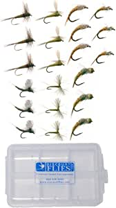 Baetis Trout Fly Fishing Flies Collection 21 Flies + Fly Box