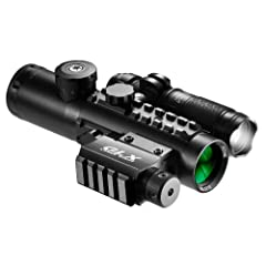 4x30 IR Sight w Green Laser & 140 Lumen Flashlight by Barska
