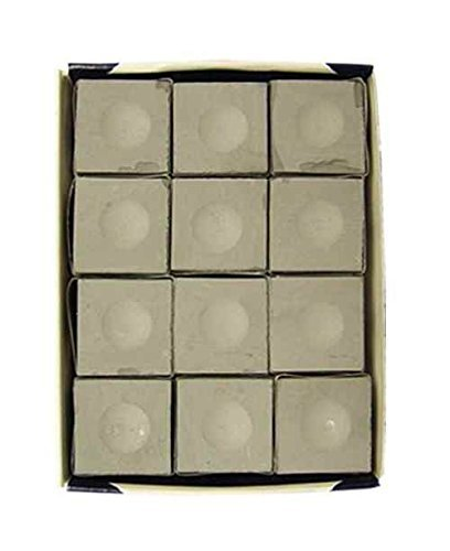 Silver Cup Pewter Billiard Chalk Made in USA - 12 Pc Set