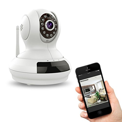 Wireless WiFi IP Surveillance Camera SkyGenius 720P HD P2P Pan Tilt Baby Monitor with IR-CUT Microphones Two-Way Audio ONVIF Night Vision Support PC and Windows iOS Android Cellphone Remote Control