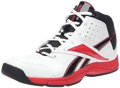 Reebok Laniack Basketball Shoe (Little Kid/Big Kid),White/Black/Redtastic,1.5 M US Little Kid