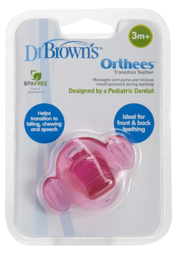 Dr Brown's Natural Flow Orthees Teether (Pink)