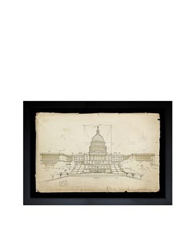 Oliver Gal Capitol Building, 1703 Framed Giclée