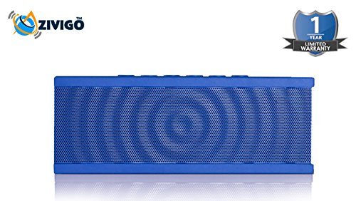 Zivigo™ Portable Wireless Bluetooth Speaker With Built In Speakerphone, 8 Hour Rechargeable Battery, With Siri Function, (Blue/Blue)