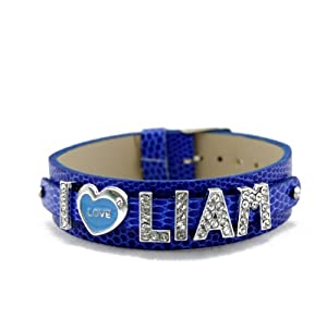 One Direction Crystal Slider Letter Wristband Bracelet - I Love Liam from Fun Daisy Jewelry