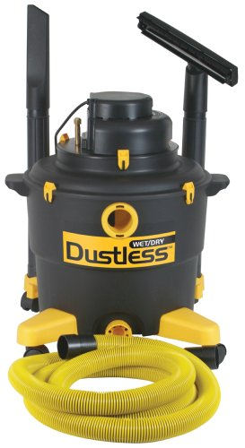 Dustless Technologies 16003 16 Gallon Dustless Wet Dry Vacuum with 12-Foot-by-1-1/2-Inch Hose