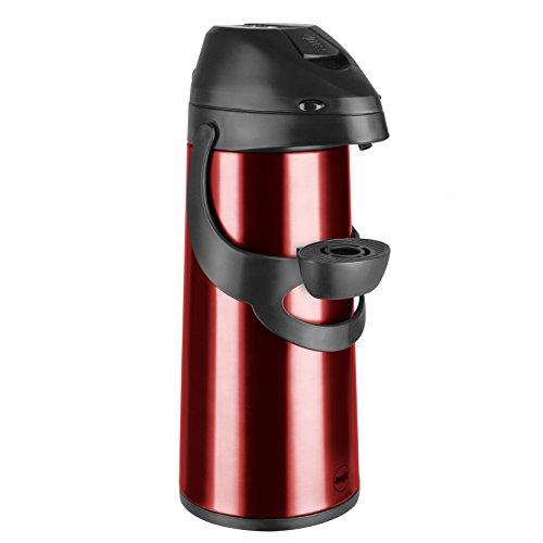 Emsa 502485 Pump-Isolierkanne, 1,9 Liter, Edelstahl, Rot,...