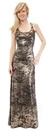 WallFlower Juniors Foil Print Maxi Dress
