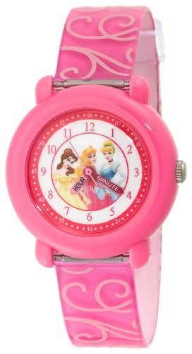 Disney Kids' PN1005 Princess Time Teacher Pink Strap Watch