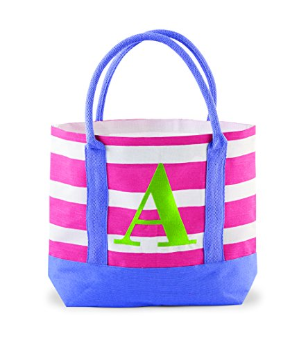 Mud Pie Juco Initial Tote, A - 1