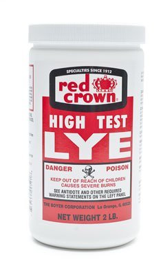 RED CROWN High Test Lye for Making Award-Winning Handcrafted Soaps, 2 lb.,
