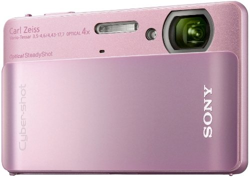 Sony DSCTX5P Cyber-shot Digital Camera - Pink (10.2MP, 4x Optical Zoom) 3 inch LCD