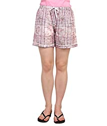 Lenora Women's Cotton Boxers (LN3011PK_Pink_Medium)