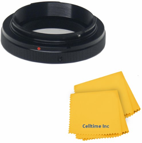 T Lens Mount Ring Adapter For M4/3 Olympus Camera Body + Celltime Elite Cleaning Cloth