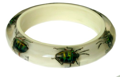 Dead Beetle Bracelet (Medium, white)