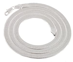 JOTW 3 Pieces of Silvertone 5mm 20 Inch Herringbone Chain Necklace