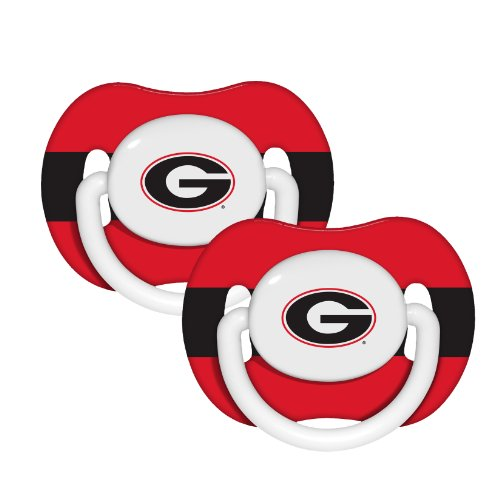 NCAA Georgia Bulldogs 2 Pack Pacifier - 1