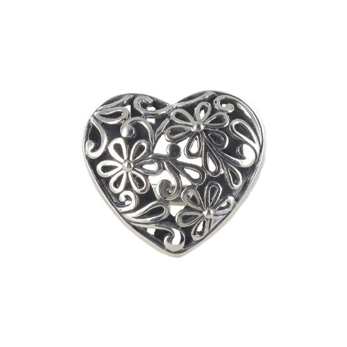 Sterling Silver Filigree Heart Ring, Size 7
