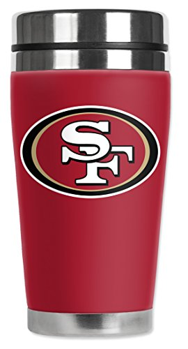 Mugzie® Brand 16-Ounce Travel Mug With Insulated Wetsuit Cover - San Francisco 49Ers