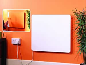 ecoPANEL - Amazing New Super Slim Paintable Panel Heater with 2 power settings and thermostat - only 2p per hour to run!
