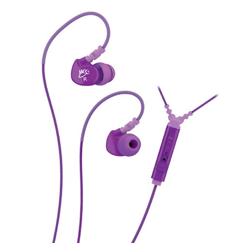 Meelectronics Sport-Fi M6P Noise Isolating In-Ear Headphone With Microphone, Remote And Universal Volume Control, Purple
