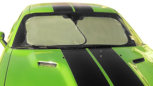 Sunshade For Auto Windshield -Saves Money- Shields Vehicle For Cool Comfort! Protect Your Car - Reflect The Heat With Silver - Reversible - Pop-Up Shade To Black & Sun Warms Window To Stop Frost 100% Satisfaction Guarantee! front-464637