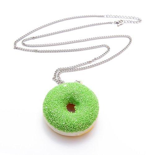 donut-avec-du-glacage-glacure-collier-env-70-cm-plate-avec-pendentif-liebesperlen-vert-vert