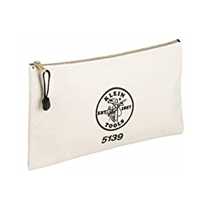 Klein Tools 5139 12-1/2-Inch Canvas Zipper Bag