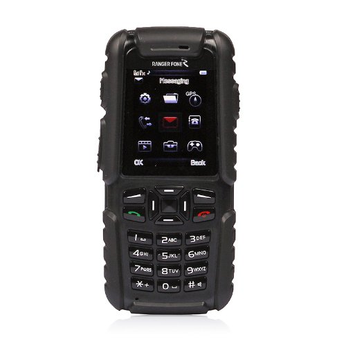 Rangerfone Rexior GR-102G GPS Outfone UHF GSM Cellphone Camera Digital 2-Way Radio Walkie Talkie Warterproof Black