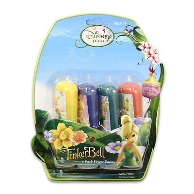 Tinkerbell 4pk 50ml Tube Finger Paints