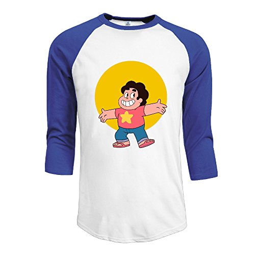 man-steven-universe-cotton-3-4-sleeve-raglan-shirts-royalblue-medium