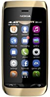 Nokia Asha 308 Dual Sim, Oro [Italia]